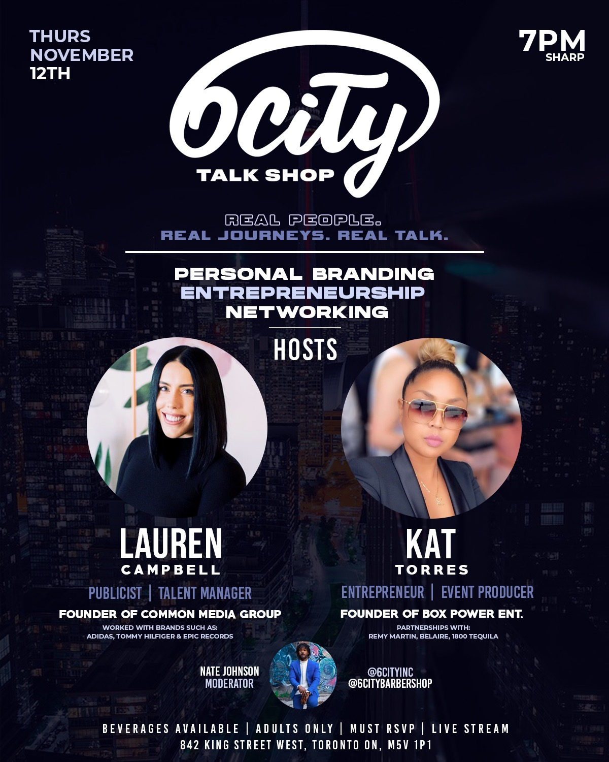 6City Talk Shop Flyer: Personal Branding, Entrepreneurship, Networking