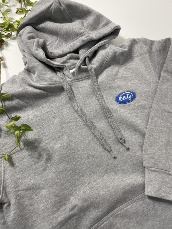 6City Patch Logo Hoodie in Grey