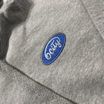 6City Patch Logo Hoodie in Grey Logo Close-up